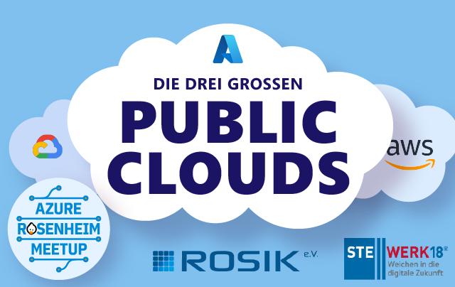 die drei grossen public clouds
